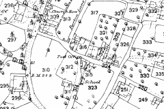 Map of Whatton 'Old' Village in 1883
